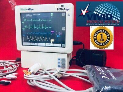 Welch Allyn Propaq 244 Cs Patient Monitor Spo2 Nibp Temp Ecg 1 Yr Warranty