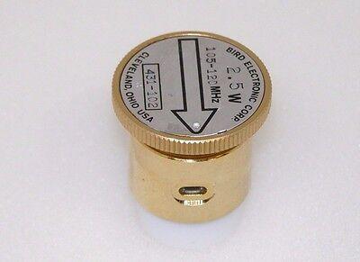 Bird 43 Thruline Wattmeter Meter Slug Element 2.5 Watts 105-120 MHz (431-102)