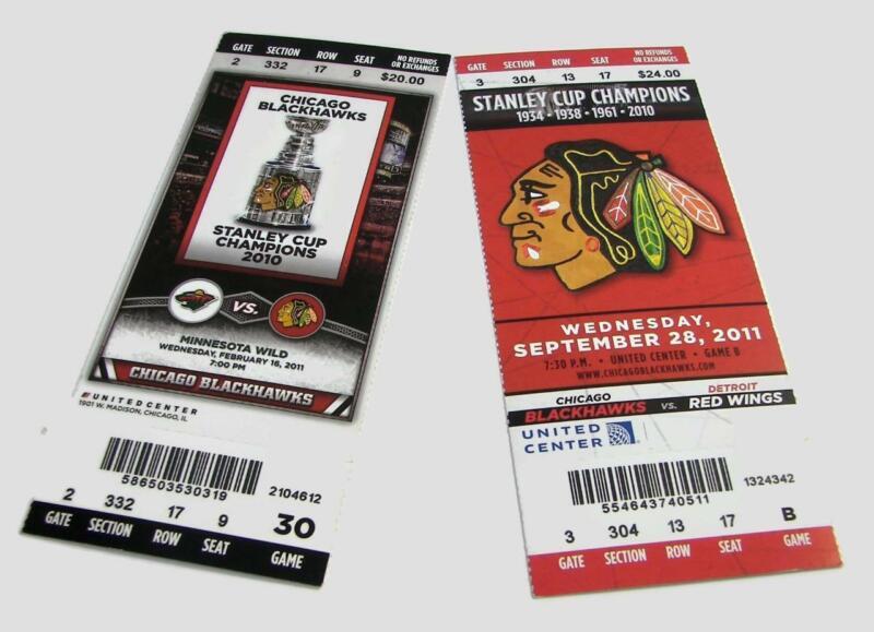 2011-12 Seasons Unused Chicago Blackhawks Hockey Tickets Stanley Cup United Ctr.
