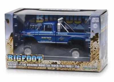 GREENLIGHT 86097 BIGFOOT #1 MONSTER TRUCK 1974 FORD F-250 DIECAST 1:43 BLUE
