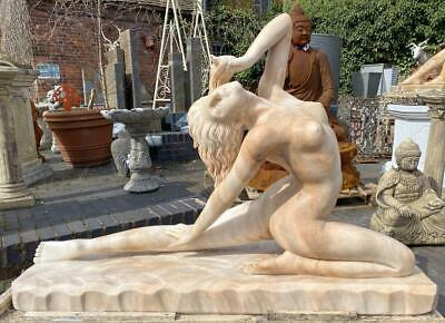 Stunning Large Solid Marble Sculpture Naked Lady - 150cm x 102cm Indoor Outdoor