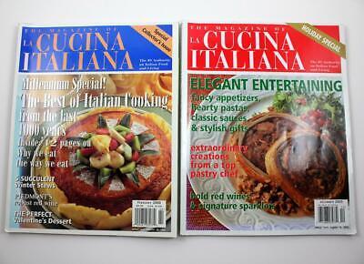 Used, The Magazine of La Cucina Italiana Lot of 2 Jan-Feb 2000 & Dec 2005 Holiday Spec for sale  Phoenix