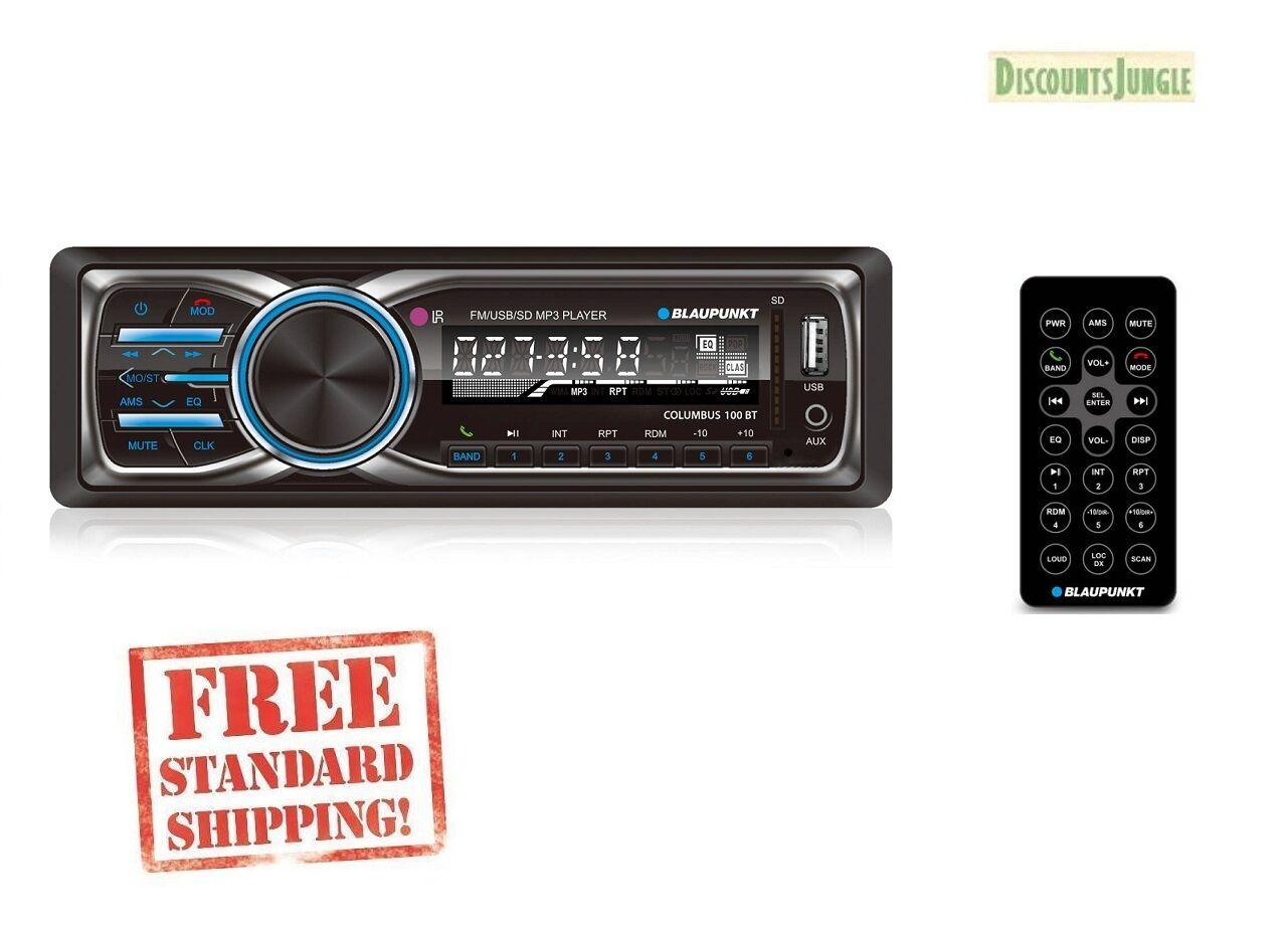 Blaupunkt Columbus 100bt Mp3/fm/sd Card Slot Stereo Recei...