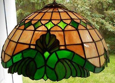 TIFFANY STYLE BAROQUE STAINED GLASS LAMP