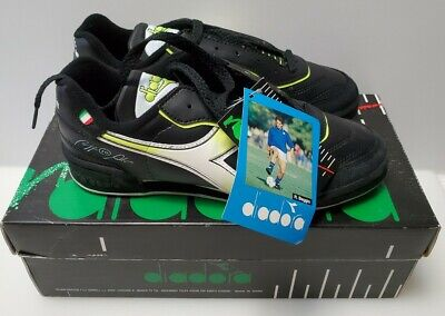 Diadora Assist ID JR Roberto Baggio Indoor Soccer Shoes Size 6