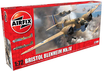 Airfix Bristol Blenheim Mk.IV 1:72 Scale Plastic Model Airplane A04061