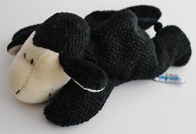 ♥ NICI Kuscheltier Jolly Mäh Plüschtier 20cm liegend schwarz Schaf Schäfchen ♥ ()