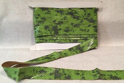 """Lime Green Snakeskin Grosgrain Ribbon 1 1/2"""" ~ sold by the yard - Lime Green Ribbon"""
