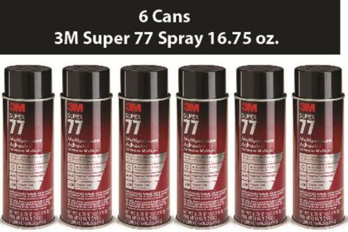 3M Super 77 Spray Adhesive 16.75 oz. Case of 6