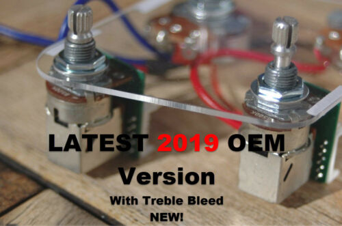 Epiphone Les Paul Pro Wiring Harness Coil Split - Push/Pull Alpha Pots OEM! 2020