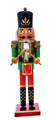 [Kurt Adler Nutcracker - Soldier with Green Glitter Coat Christmas Nutcracker </Title]