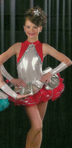 Group Lot of 5 Child XS Tutu Ballet Costumes Red STARLET
