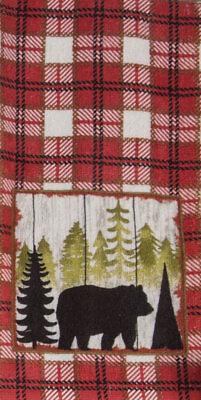 Kay Dee Designs Lodge/Cabin BEAR Cotton Terry Cloth Kitchen Towel