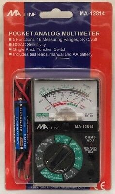 Ma-line Ma-12814 Pocket Analog Multimeter