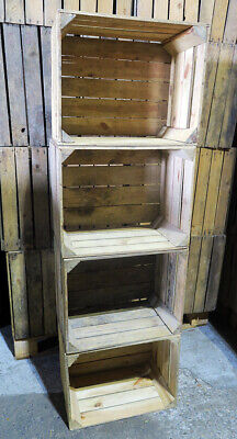 6, 9, 12 - Wooden Crates fruit apple boxes vintage home decor Rustic Box - FAST