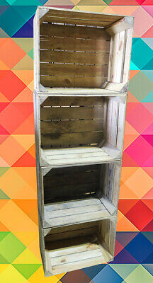 6 Used Apple Crates Wooden Boxes - Genuine UK Supplier - Free FAST Delivery