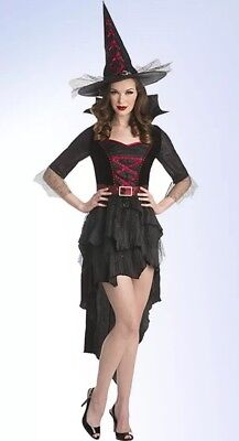 Sexy Midnight Witch - Palamon Women's Witch Costume Dress & Hat - Choose Size - Witch Costume Woman