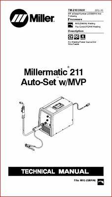 Millermatic 211 Auto Set Wmvp Technical Manual Eff With Lj330001n