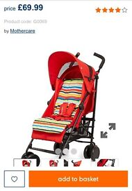 Mothercare Nanu pushchair in red