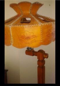Lampe véritable cuir