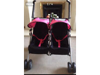 Dolls Silver Cross Double pushchair/buggy