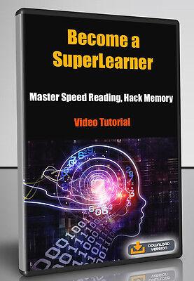 Become a SuperLearner 2.0 Master Speed Reading, Hack Memory - Digital Download