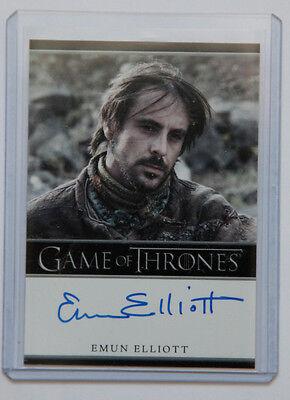 Game of Thrones Season 2 Emun Elliott Marillion auto autograph card
