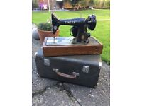 Singer sewing machine and case
