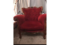 French style louis arm chair shabby chic