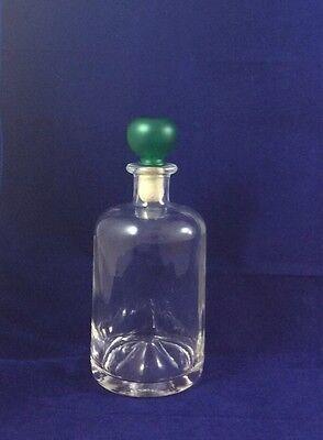 Glas Getränkeflaschen (Glas Flasche Schnapsflasche Getränk Likör 530 ml Glasflasche mit Korken)