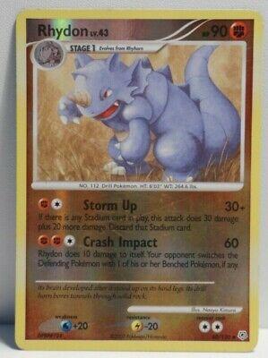 Pokemon TCG Rhydon 60/130 Reverse Holo Diamond & Pearl + Energy Card