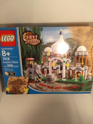 Lego #7418 Orient Expedition,  Scorpion Palace, 358 pcs. 100% complete Per.Coll