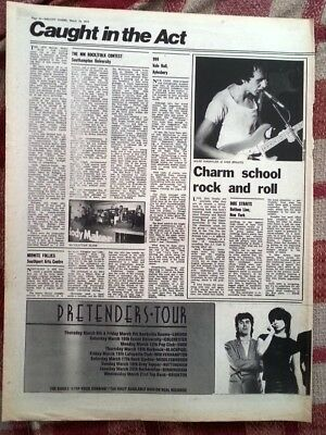 DIRE STRAITS Bottom Line New York concert review 1979 ARTICLE / clipping