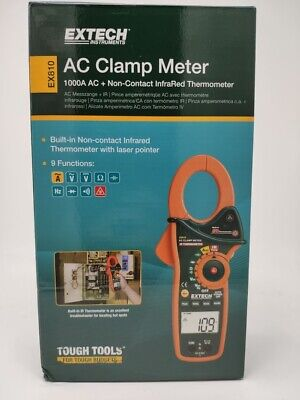 Extech Ex810-nistl 1000a Clamp Meter With Infrared Thermometer Nistl Certified