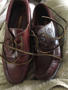 Italian leather boat shoes