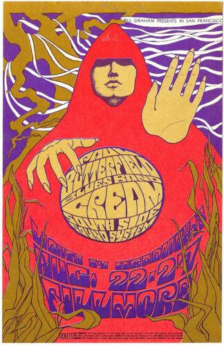 Paul Butterfield CREAM 1967 Filllmore Postcard BG 79