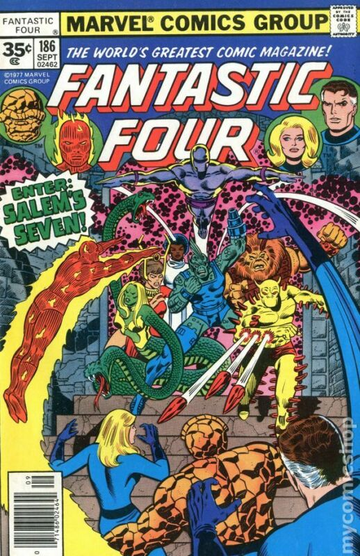 Fantastic Four 35 Cent Variant #186 VG 1977 Stock Image