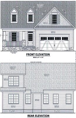 Complete House Plans 1 858 Sf Blueprint Plans   Black Friday Special Price