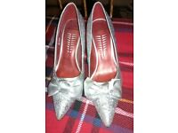Silver shoes size 4