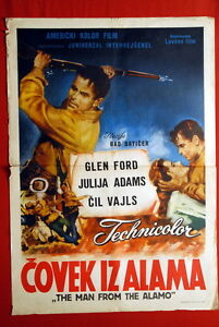 MAN-FROM-ALAMO-GLENN-FORD-WESTERN-1952-JULIA-ADAMS-CHILL-WILLS-EXYU-MOVIE-POSTER