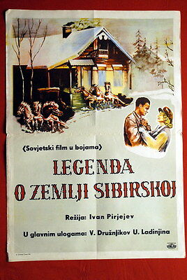 LEGEND OF SIBERIAN LAND RUSSIAN 1948 UNIQUE EXYU MOVIE POSTER