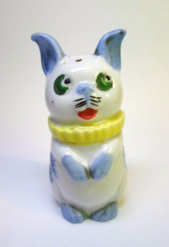 "Antique CIRCUS DOG SALT SHAKER Hand Painted Porcelain Germany 2.75"" Tall"