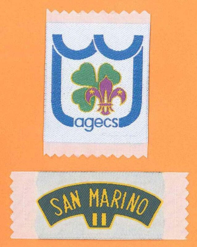 SCOUTS OF SAN MARINO - Scout Membership Rank Award & National Strip Patch SET