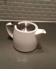 'For Life' Stump Teapot in white colour - Never been used!