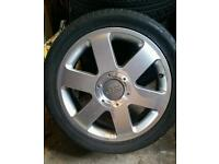 "4 x Audi 17"" alloy wheels"