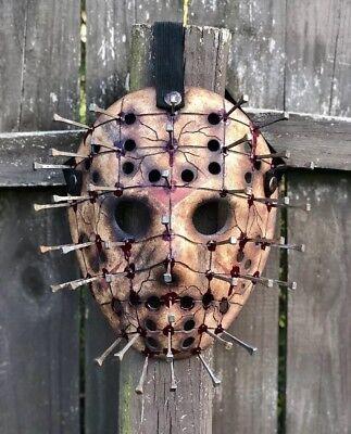 Jason Voorhees Pinhead Hand Custom Painted Mask (Jason Mask)