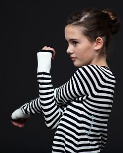 IVIVVA - Black and White Striped Knit Sweater