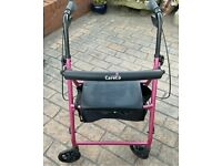 Careco disabled seat Walker folding rollator pink disability seat