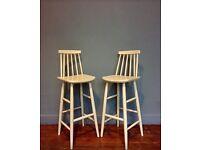 Ercol style bar stools