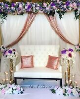 Wedding decor - centerpieces rental, arch, reception circle arch